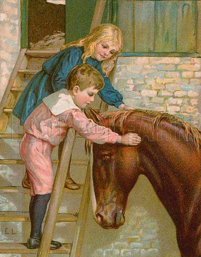 The Children's Favourite. Illustration for Picture Book Playmates (Ernest Nister, c 1890). Chromolithograph.