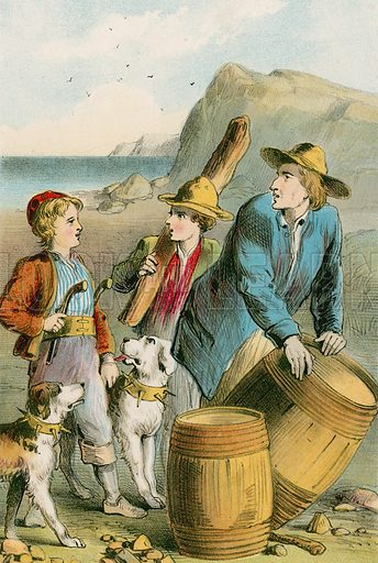 A brigand-like decoration. Illustration for The Swiss Family Robinson (Nelson, 1874).