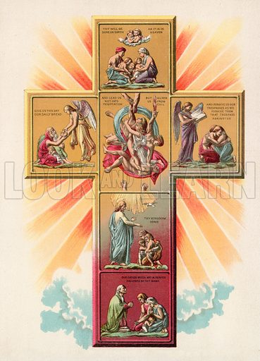 The Cross of Prayer. Illustration for The Pathway of Life by T Dewitt Talmage (Johnson, 1890).