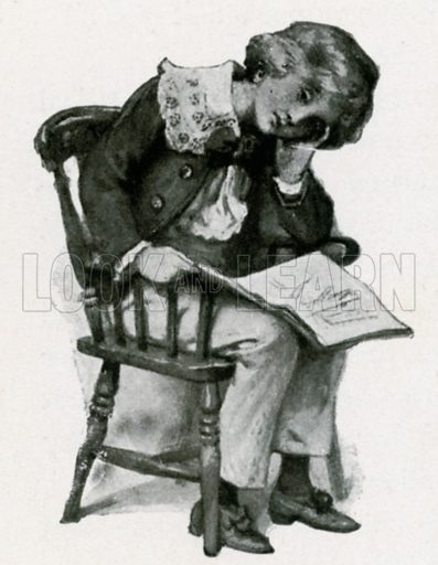 David Copperfield. Illustration for Child Characters from Dickens (Ernest Nister, c 1900).