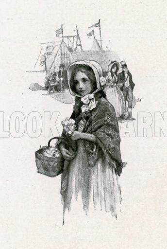 Little Nell. Illustration for Child Characters from Dickens (Ernest Nister, c 1900).