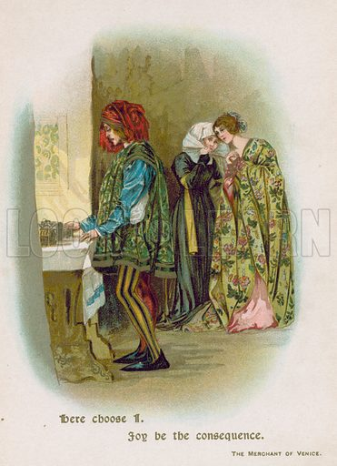 The Merchant of Venice. Illustration for Through the Year with Shakespeare (De Wolfe, Fiske & Co, c 1900).