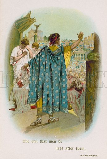 Julius Caesar. Illustration for Through the Year with Shakespeare (De Wolfe, Fiske & Co, c 1900).