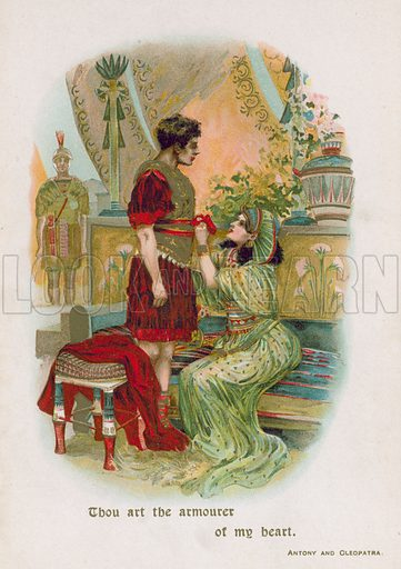 Antony and Cleopatra. Illustration for Through the Year with Shakespeare (De Wolfe, Fiske & Co, c 1900).