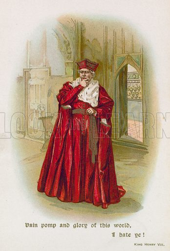 King Henry VIII. Illustration for Through the Year with Shakespeare (De Wolfe, Fiske & Co, c 1900).