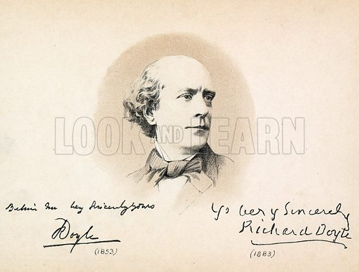 Portrait of Richard Doyle. Scenes from English history (Pall Mall Gazette Office, 1886).