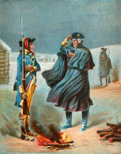 Winter at Valley Forge. Illustration for The Life of George Washington in Words of One Syllable (McLoughlin Brothers, c 1890).