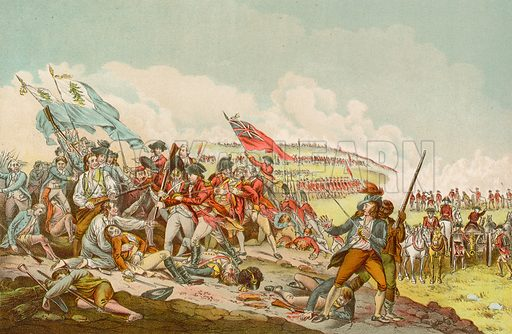 Battle of Bunker Hill, picture, image, illustration