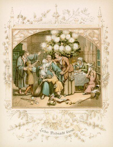 Illustration for Dr Martin Luthers Leben (Pilgerbuchhandlung, c 1890).