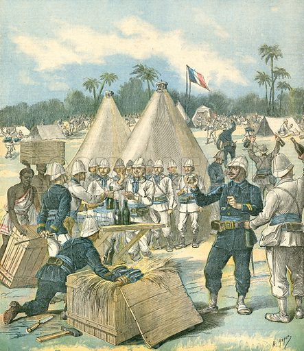 New Year's Present at Dahomey. Illustration for Le Petit Journal, 31 December 1892.