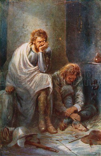 The Pilgrims in Doubting Castle.  Illustration for Pilgrim
