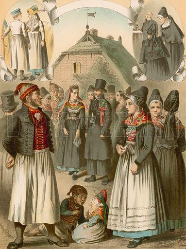 Rugen, Monchgut. Illustration for Deutsche Volkstrachen by Albert Kretschmer (JG Bach, 1887–90).