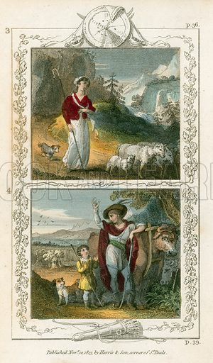 William Tell. Illustration for William Tell or the Patriot of Switzerland translated from the French of M de Florian (J Harris, 1823).