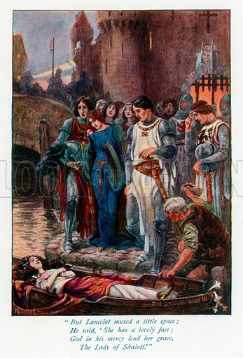 Illustration for The Gateway to Tennyson by Mrs Andrew Lang (Thomas Nelson, c 1910).