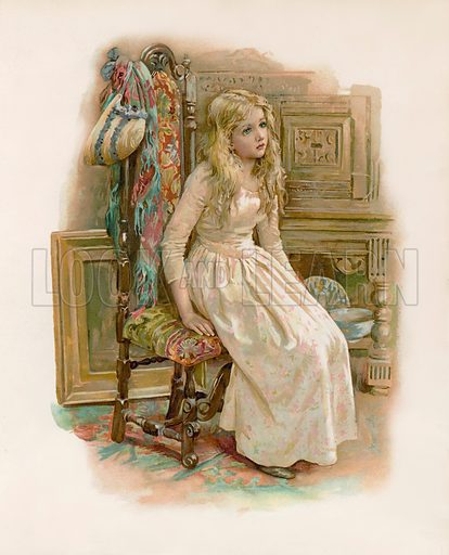 Little Nell.  Illustration for Pictures from Dickens (Ernest Nister, c 1890).