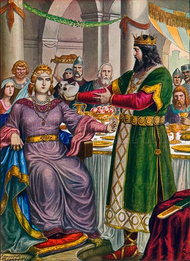 san francisco 7a12e edf09 Alboino, king of the Lombards, offers his wife Rosamunda ...