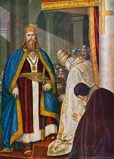 Charlemagne, picture, image, illustration