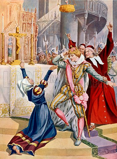 The Prophet.  Illustration for The Great Operas edited by James W Buel (Societe Universelle Lyrique, c 1900).  Large lithograph.