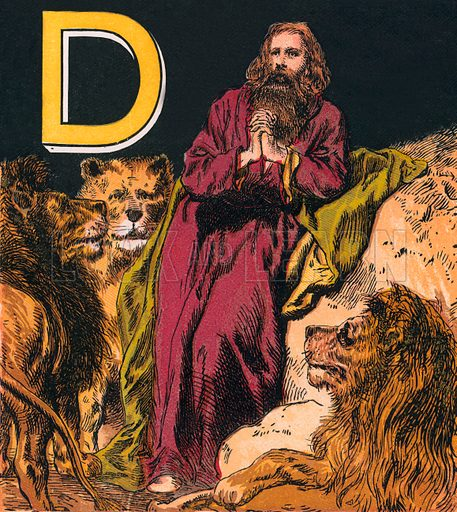 Daniel. The Child's Coloured Scripture Book published by George Routledge & Sons, c 1890. Printed in colours by Kronheim & Co Professionally re-touched illustration.