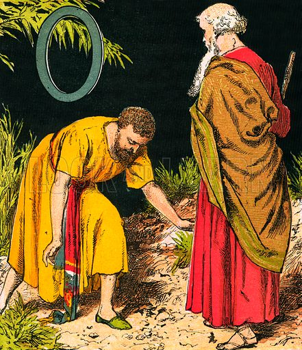 Obadiah. The Child's Coloured Scripture Book published by George Routledge & Sons, c 1890. Printed in colours by Kronheim & Co Professionally re-touched illustration.