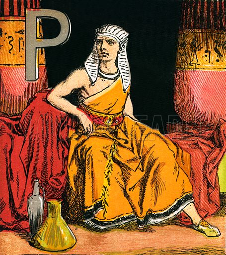 Pharaoh. The Child's Coloured Scripture Book published by George Routledge & Sons, c 1890. Printed in colours by Kronheim & Co Professionally re-touched illustration.