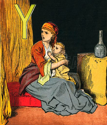 Young Joash. The Child's Coloured Scripture Book published by George Routledge & Sons, c 1890. Printed in colours by Kronheim & Co Professionally re-touched illustration.