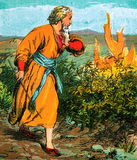 Moses. The Child's Coloured Scripture Book published by George Routledge & Sons, c 1890. Printed in colours by Kronheim & Co Professionally re-touched illustration.