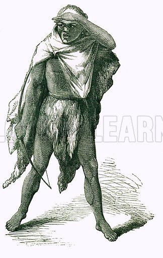 Bushman. Engraving from JG Wood's Illustrated Natural History (c 1850).
