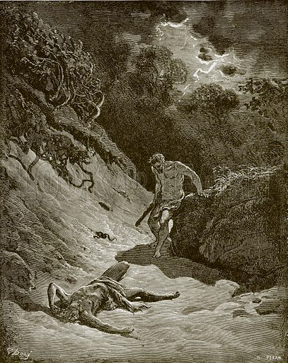 The death of Abel. Young people's Bible history (c 1900).