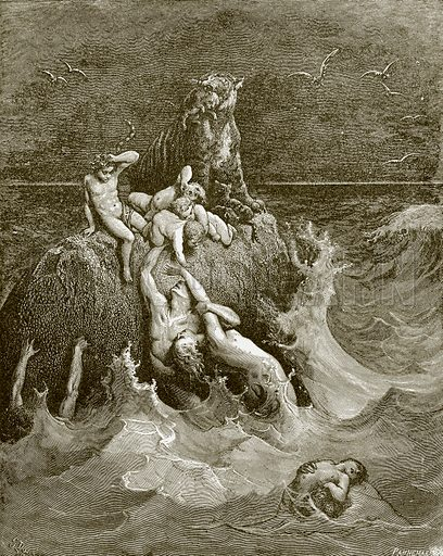 The deluge. Young people's Bible history (c 1900).