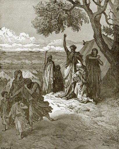 Noah cursing Canaan. Young people's Bible history (c 1900).