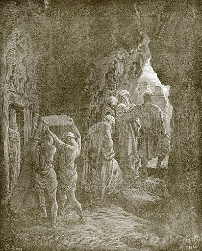 The burial of Sarah. Young people's Bible history (c 1900).