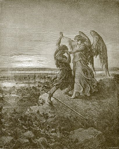 Jacob wrestling with the Angel. Young people's Bible history (c 1900).