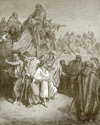 Joseph sold by his brethren. Young people's Bible history (c 1900).