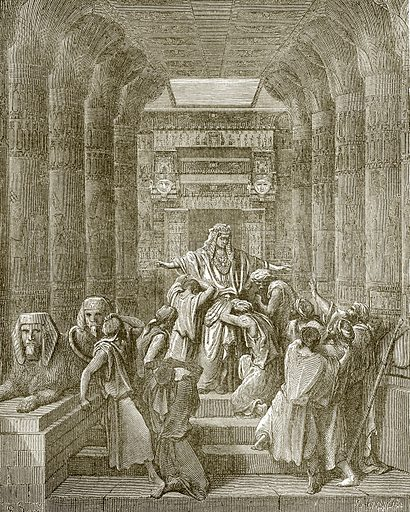 Joseph makes himself known to his brethren. Young people's Bible history (c 1900).