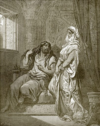 Samson and Delilah. Young people's Bible history (c 1900).