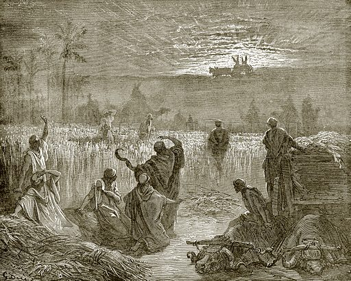 Return of the ark to Beth-Shemesh. Young people's Bible history (c 1900).