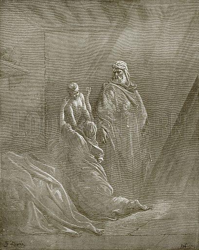 Elijah raiseth the son of the widow of Zarephath. Young people's Bible history (c 1900).