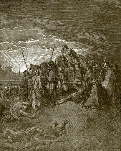Death of Ahab. Young people's Bible history (c 1900).