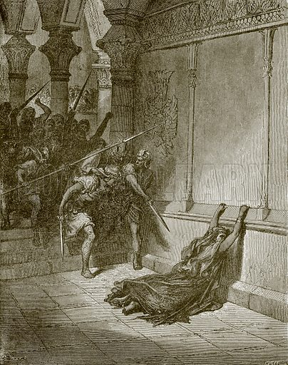 Death of Athaliah. Young people's Bible history (c 1900).