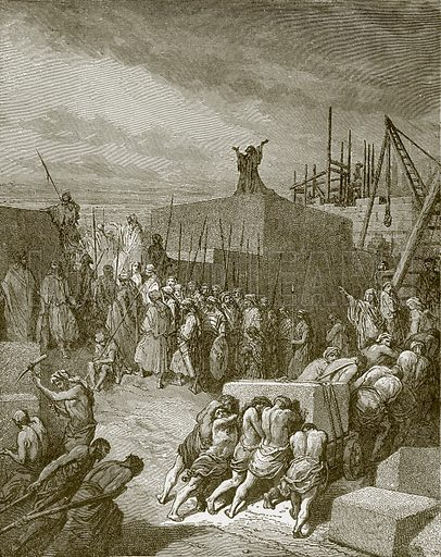 The rebuilding of the temple. Young people's Bible history (c 1900).