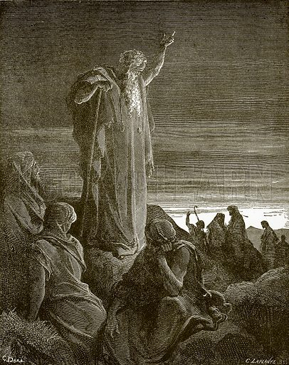 Ezekiel prophesying. Young people's Bible history (c 1900).