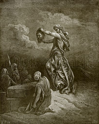 Judith showing the head of Holofernes. Young people's Bible history (c 1900).