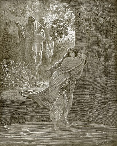 Susanna in the bath. Young people's Bible history (c 1900).
