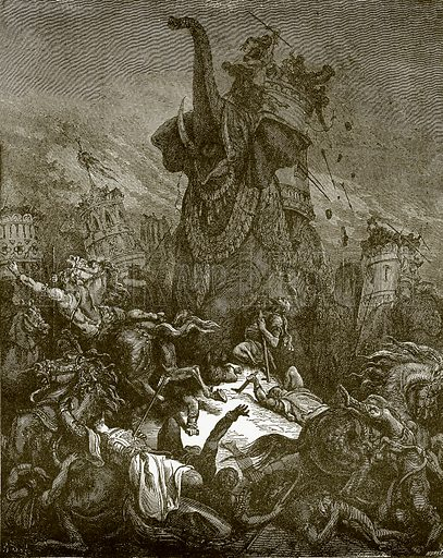 Death of Eleazar. Young people's Bible history (c 1900).