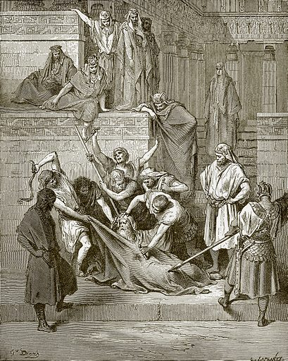 Martyrdom of Eleazar the scribe. Young people's Bible history (c 1900).