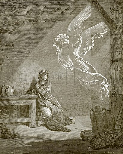 The Annunciation. Young people's Bible history (c 1900).