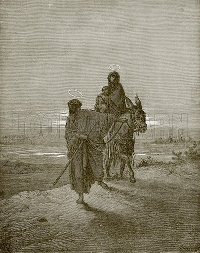 The flight into Egypt. Young people's Bible history (c 1900).