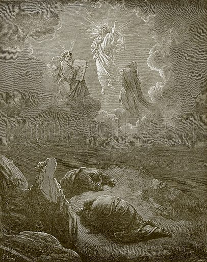 The transfiguration. Young people's Bible history (c 1900).