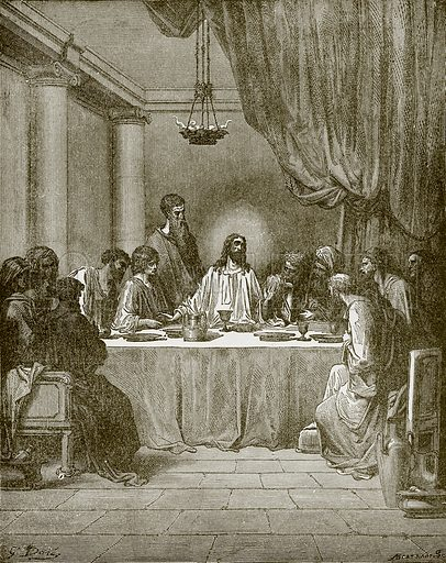 The last supper. Young people's Bible history (c 1900).